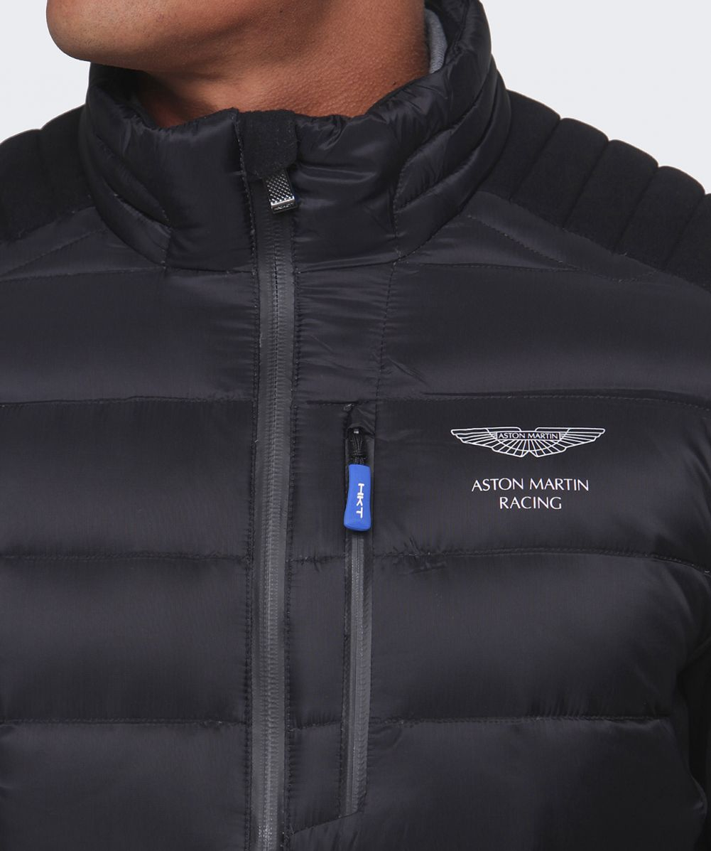 Lyst Hackett Aston Martin Racing Quilted Jacket In Black For Men