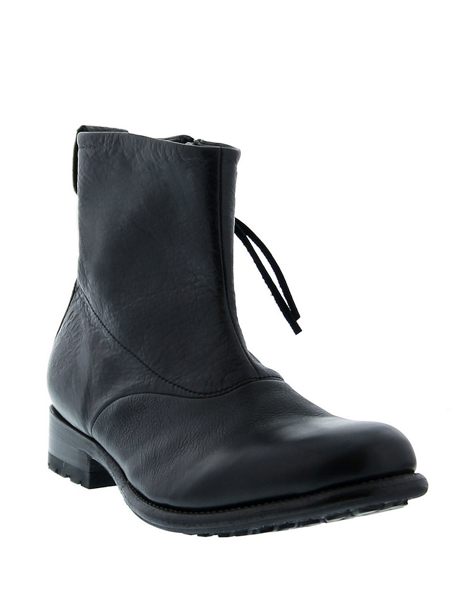 blackstone leather zip boots in black for lyst