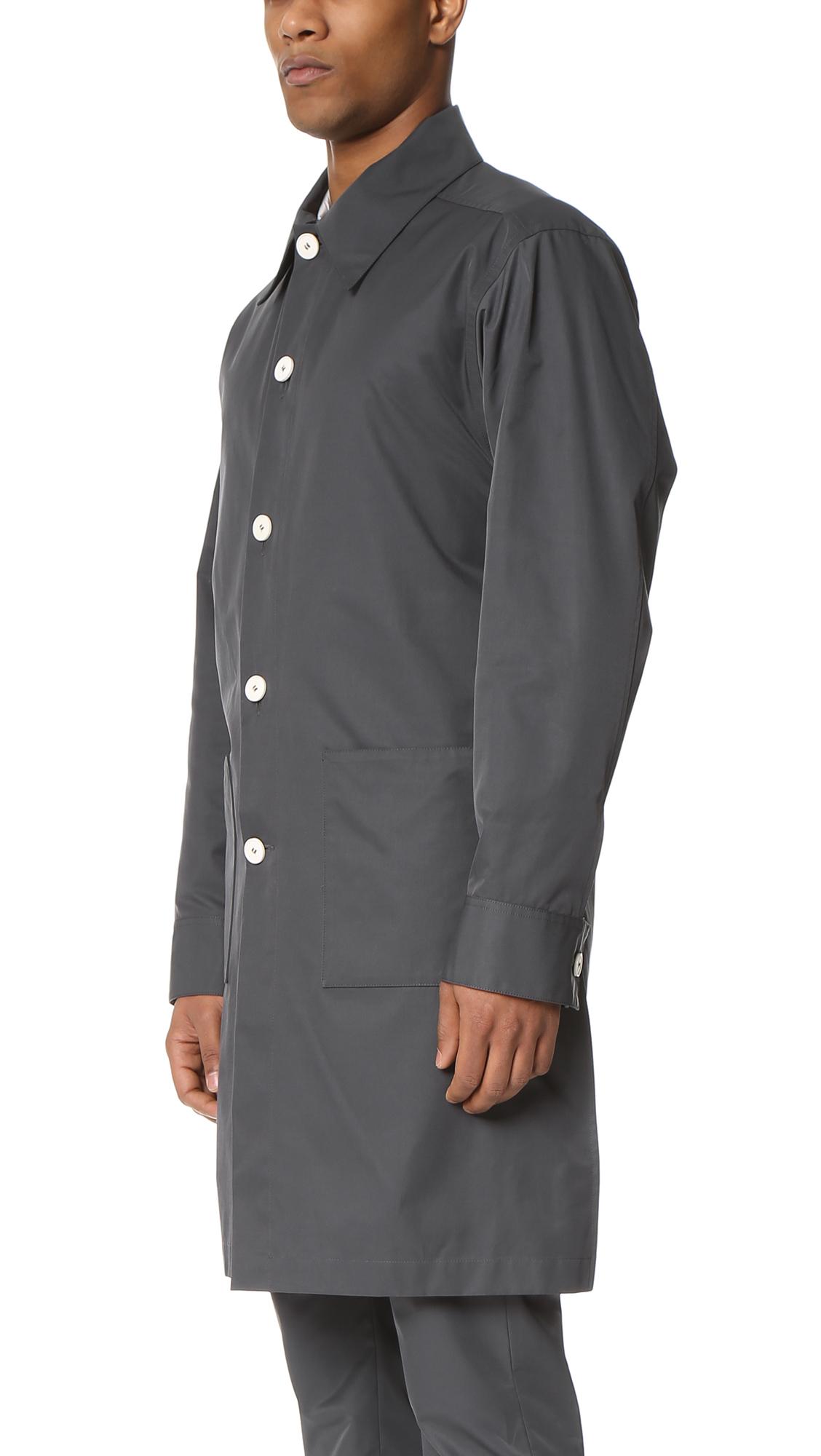 Marni Technical Poplin Lab Coat In Gray For Men Lyst