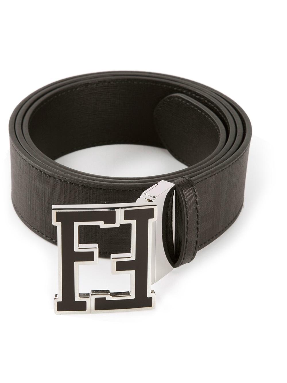 Fendi Branded Buckle Belt in Black for Men  d0ab9e17d3e01