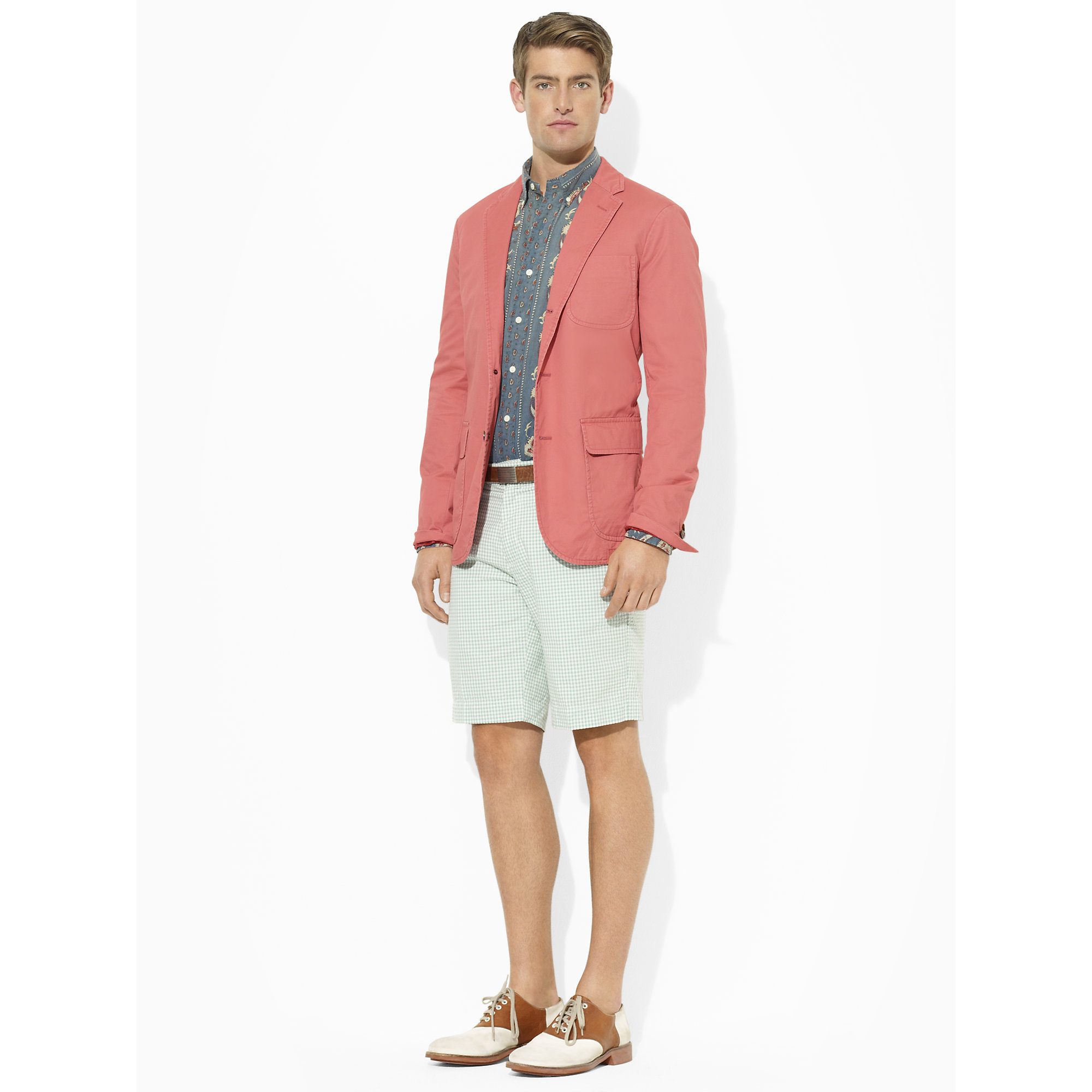 Polo ralph lauren Langley Sport Coat in Pink for Men | Lyst