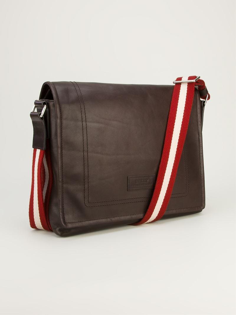 Lyst Bally Tepolt Shoulder Bag In Brown For Men