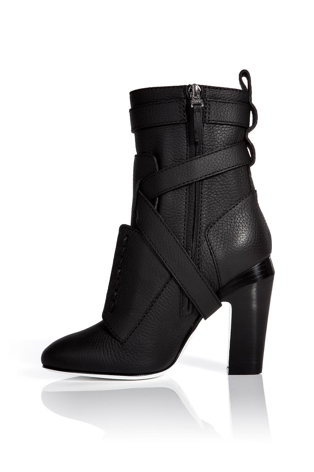 Fendi Leather Ankle Boots ItZPNpqi