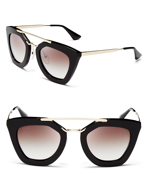 Prada Eyeglass Frames Cateye : Prada Cat Eye Sunglasses, 49mm in Black Lyst