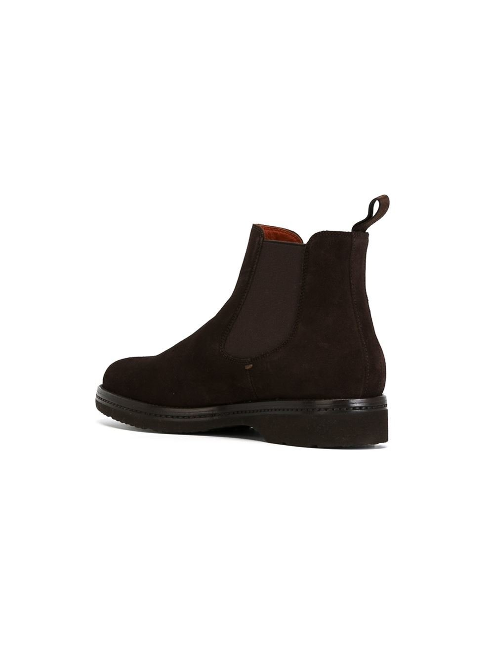 santoni ankle boots in brown lyst