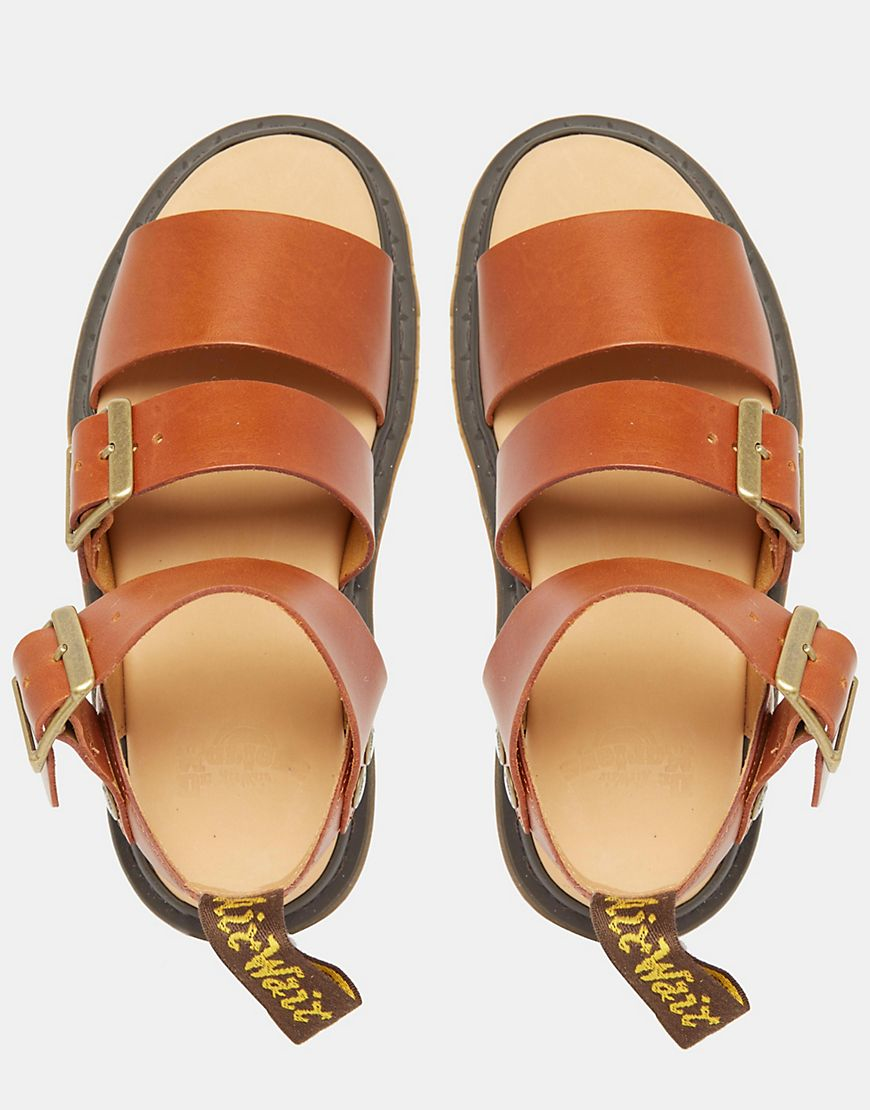 68cebcfd9fb9 Dr. Martens Gryphon Strap Sandals - Tan in Brown - Lyst