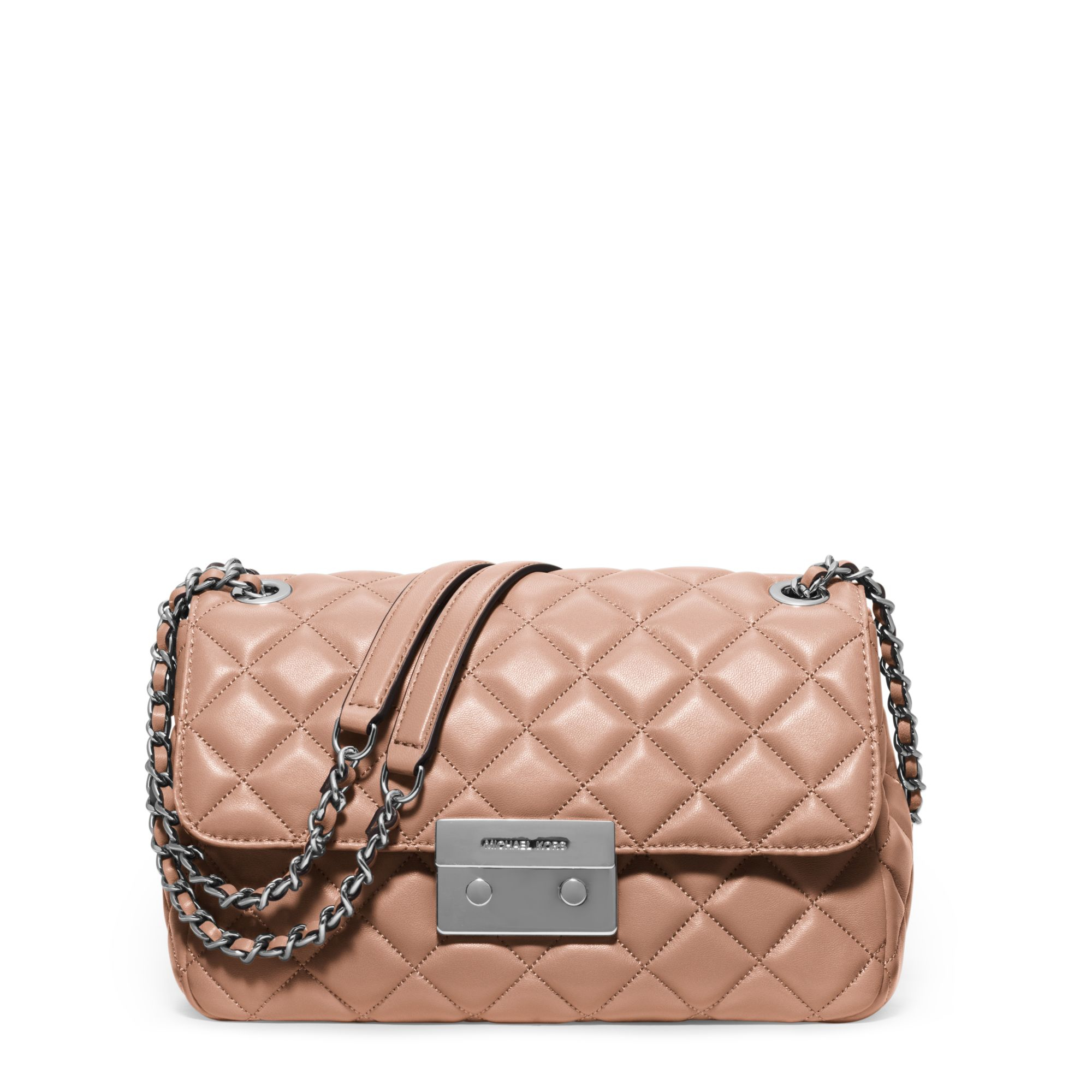 e6fc7667ac32 Lyst - Michael Kors Sloan Large Quilted-leather Shoulder Bag in Pink