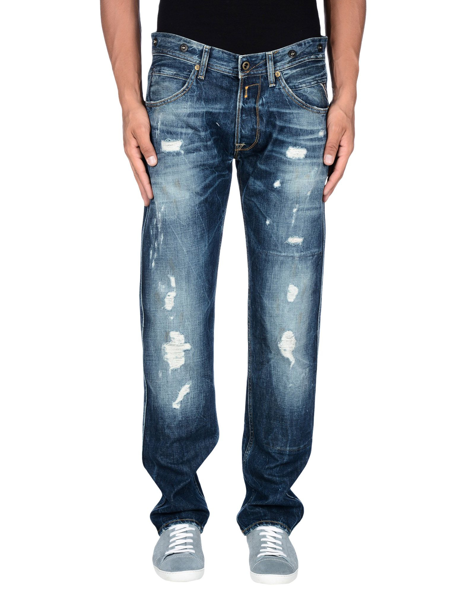 Replay Denim Trousers In Blue For Men Lyst
