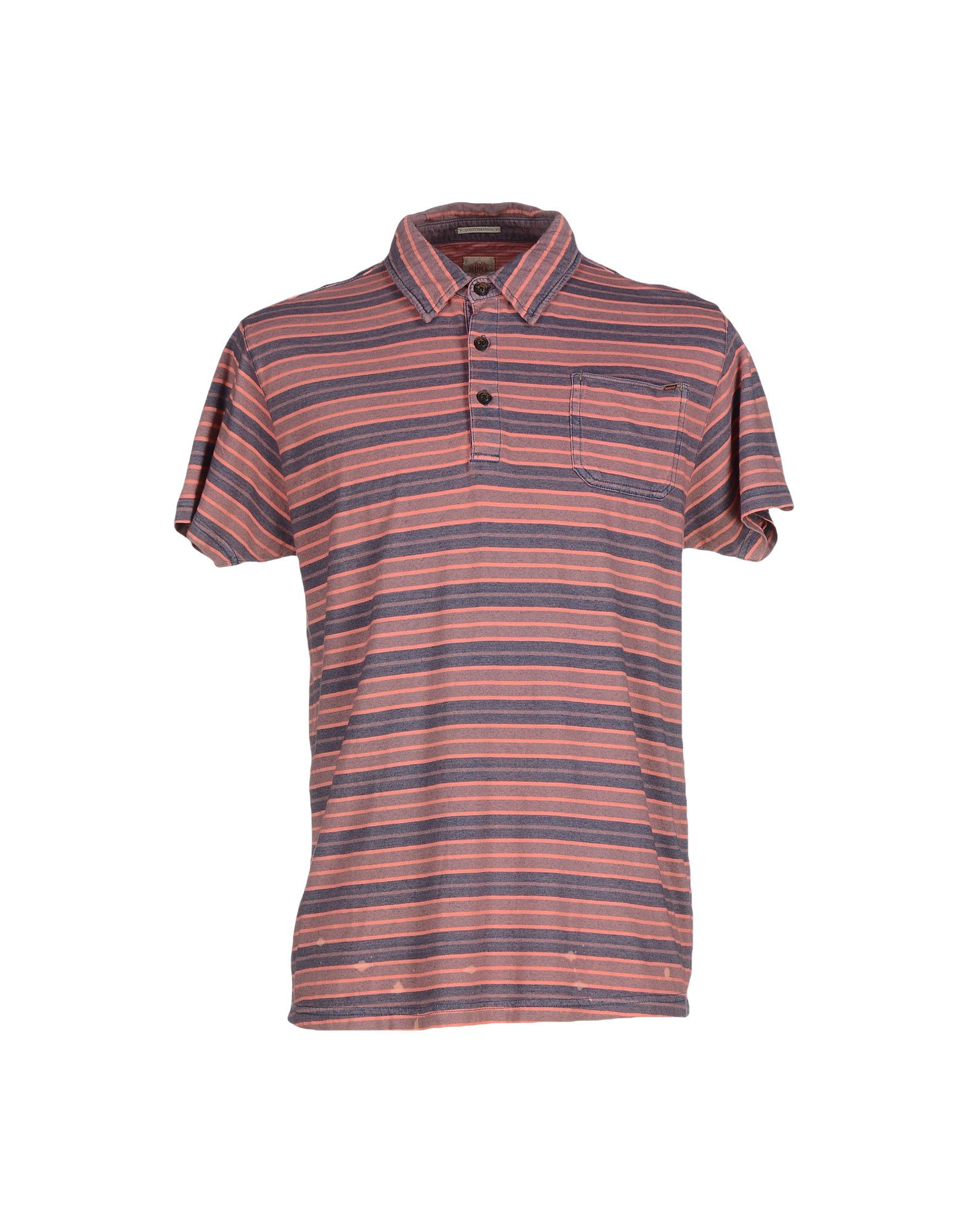 lyst scotch soda polo shirt in pink for men. Black Bedroom Furniture Sets. Home Design Ideas