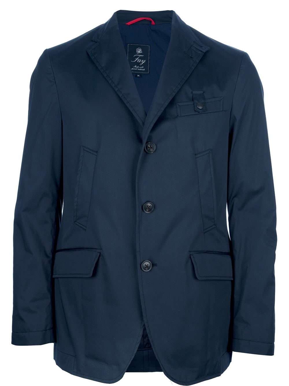 Fay Blazer Style Driving Jacket in Blue for Men