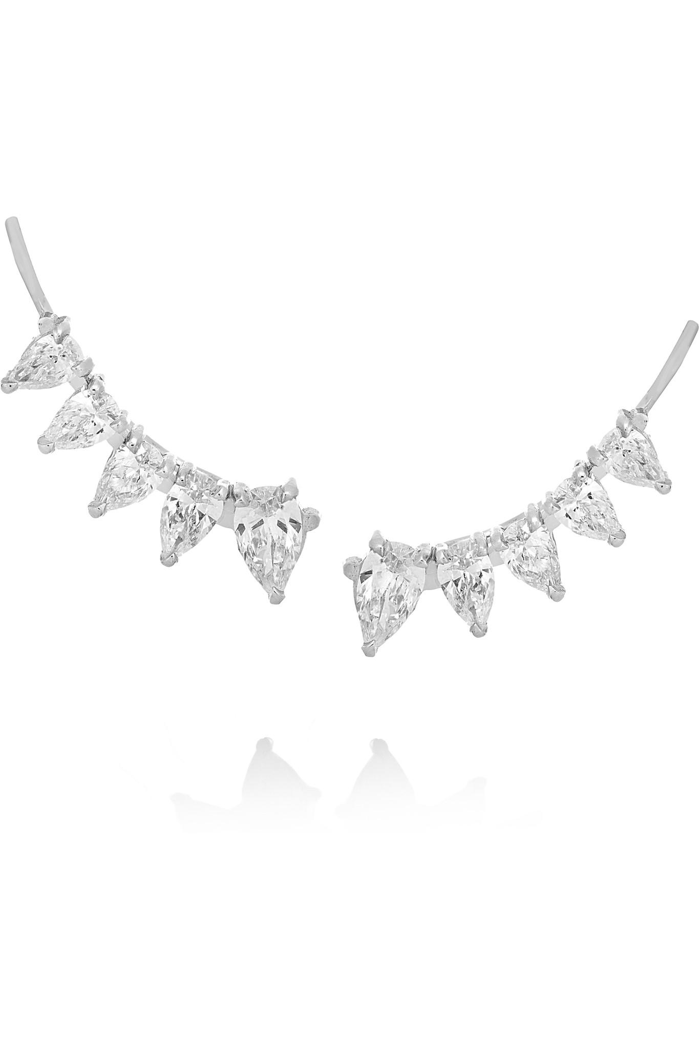 Anita Ko Floating 18-karat White Gold Diamond Earrings JaohfWI