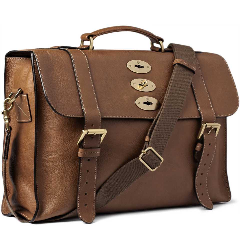 Lyst - Mulberry Ted Convertible Leather Messenger Bag in