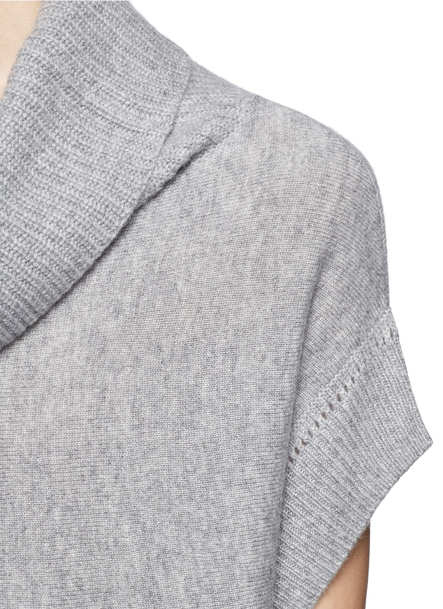 Vince Cowl Neck Cashmere Sweater In Gray Lyst