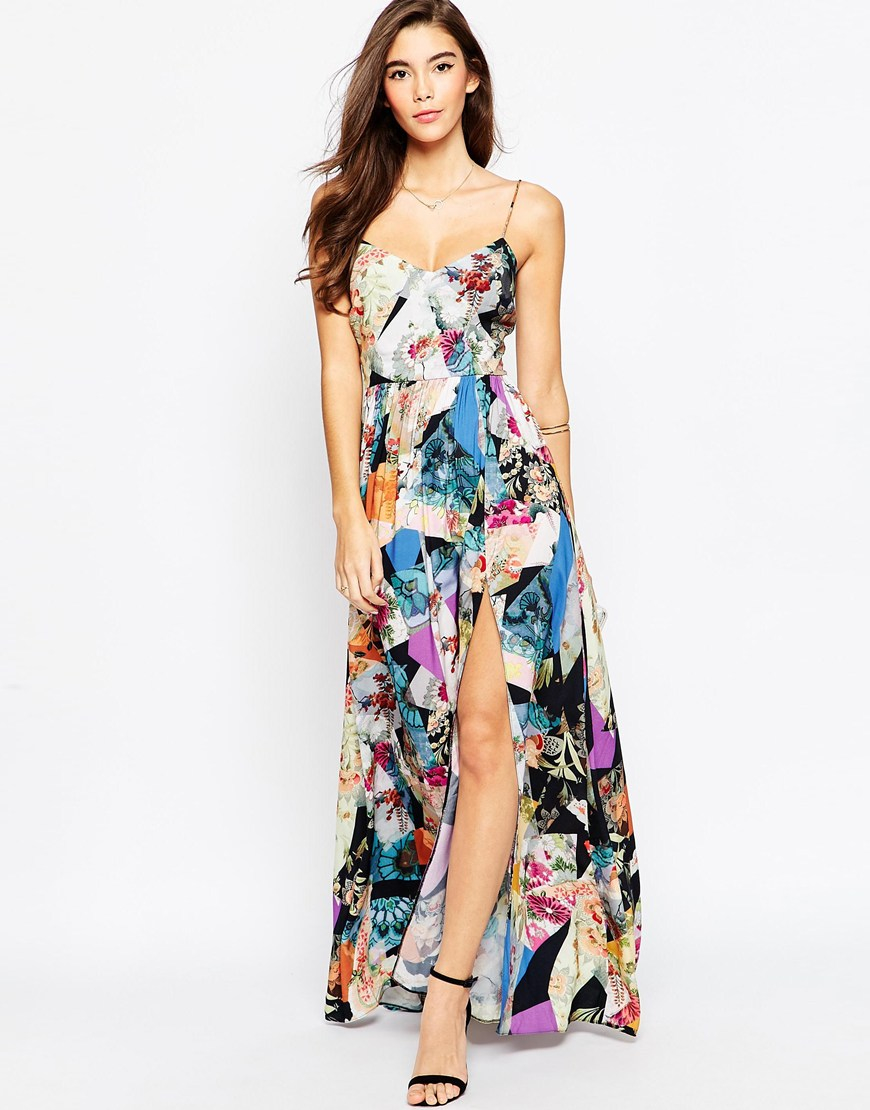 Chiffon maxi dress asos