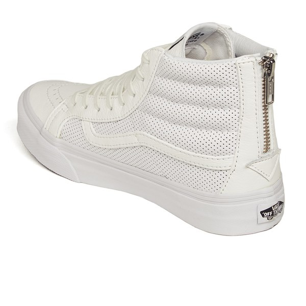 d393dd45761 Vans Women s Sk8-hi Slim Zip Perforated Leather Hi-top Trainers in ...
