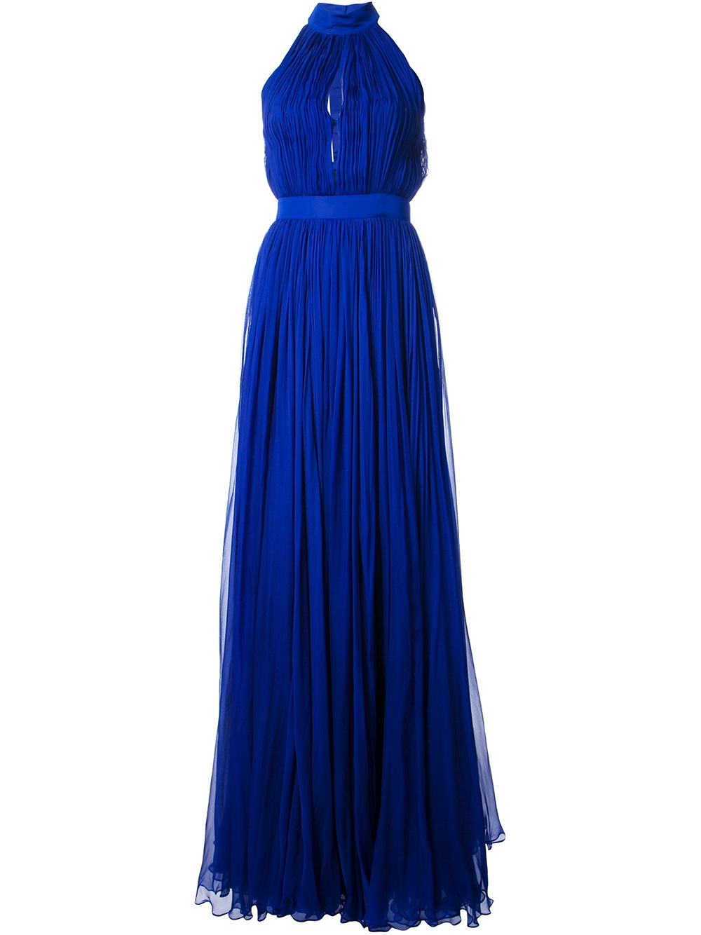 Lyst Alexander Mcqueen Flared Layered Evening Gown In Blue