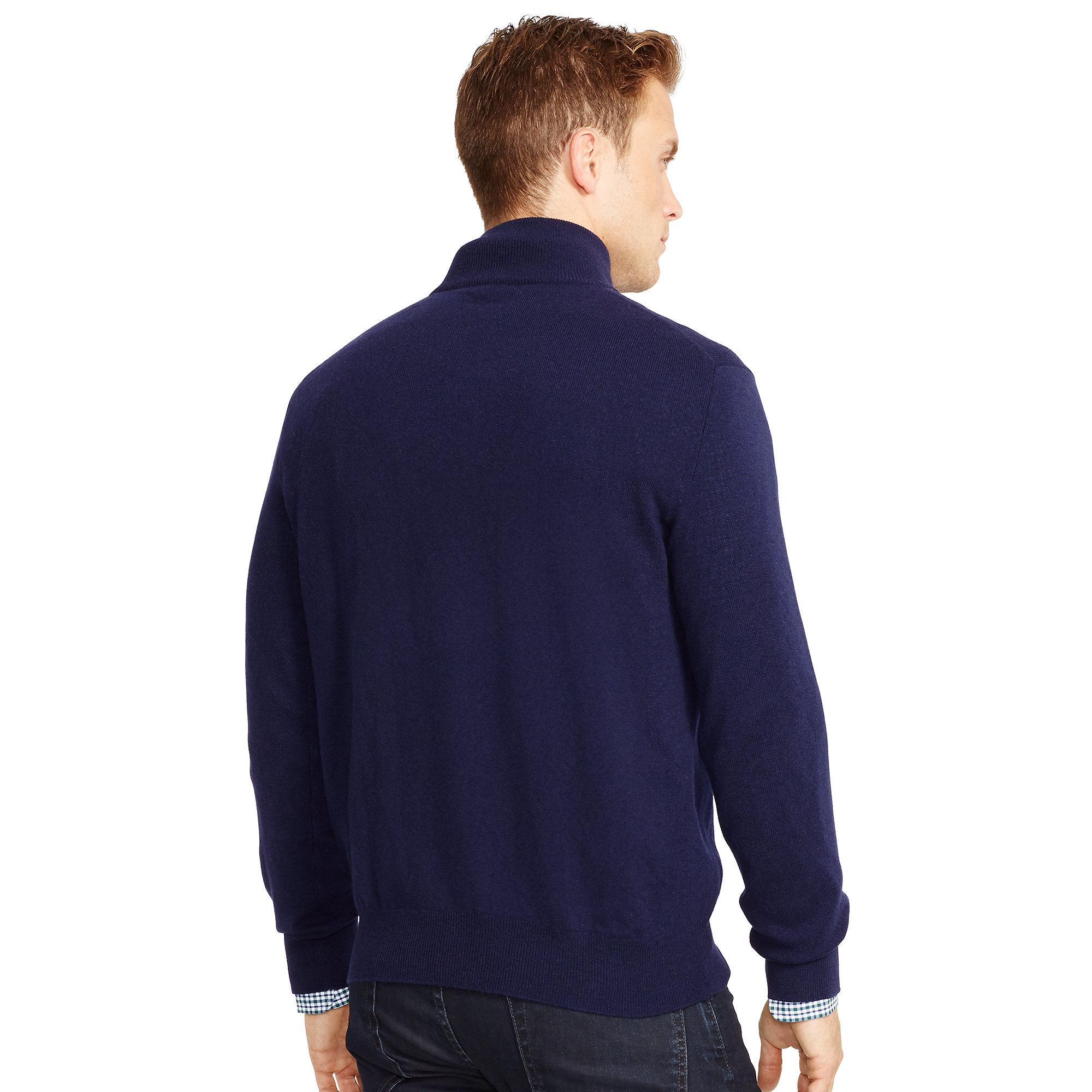 f12c5228e Polo Ralph Lauren Wool Half-zip Sweater in Blue for Men - Lyst