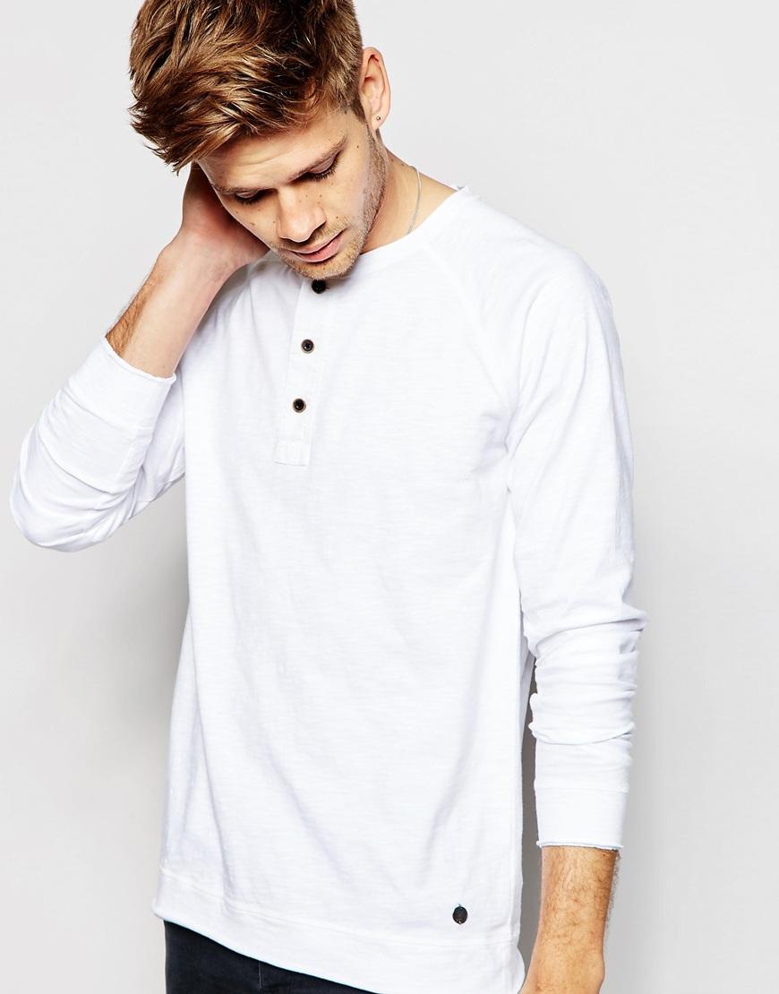 f18bb7e41ec0 Esprit Long Sleeve Henley Top in White for Men - Lyst