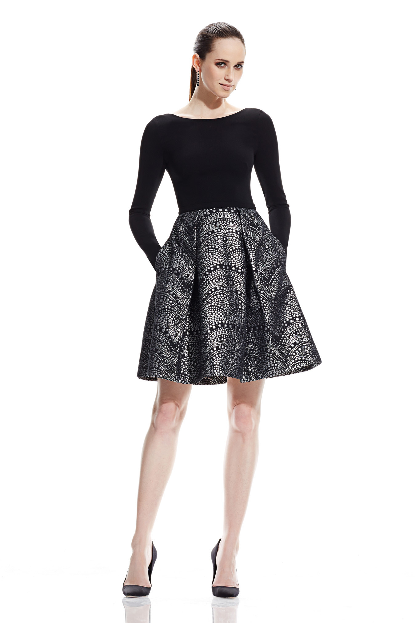 Little Black Dresses. steal all the stares in an all over sequin piece for party season, or keep it simple but chic with the little black dresses you can take from day to night with ease in effortless jersey basics. Basic Black Jersey Long Sleeve Bodycon Dress. £ Black Long Sleeve Wrap Skirt Bodycon Dress. £ Black Satin.