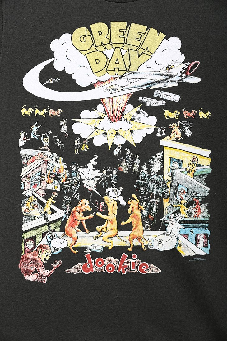 Urban Outfitters Green Day Dookie Tee In Black For Men Lyst