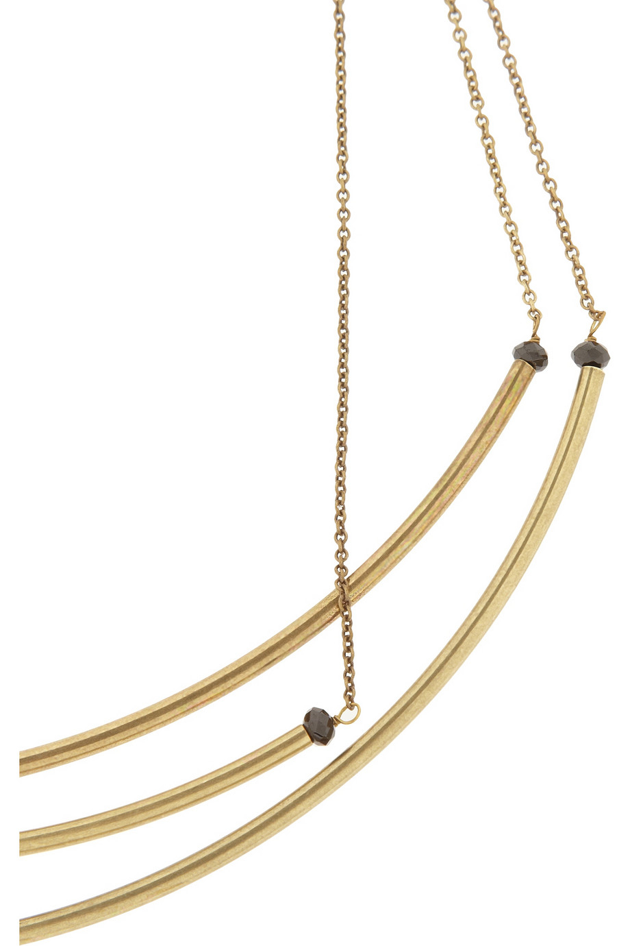 Isabel Marant Gold-Tone And Bead Necklace in Black (Metallic)
