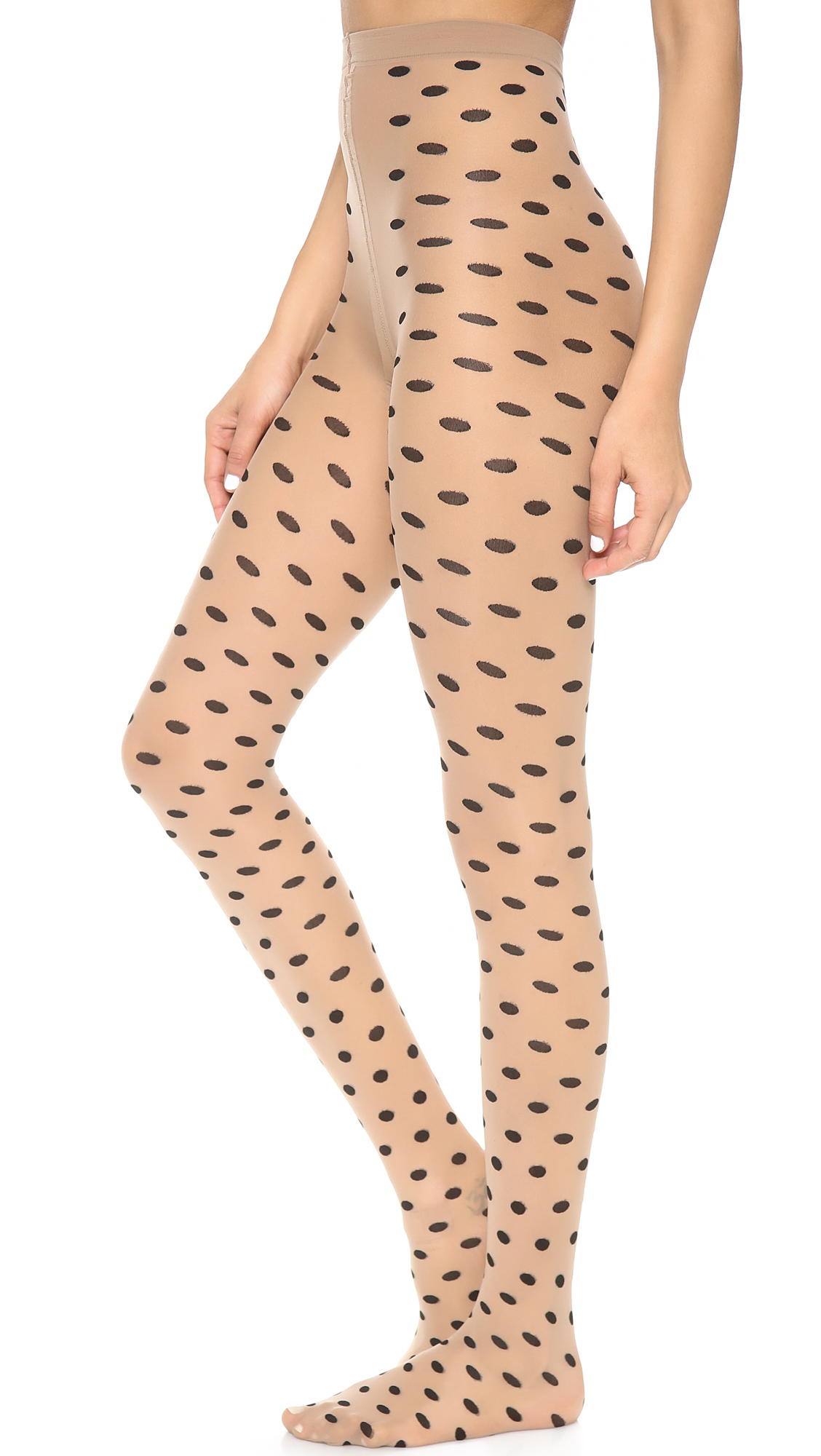 Stockings, Tights and Leggings for. Black Sheer Pantyhose with Woven Polka Dot Thigh Highs (Item # HOSE) In Stock! $ $ Womens Black and White Stripe Tights (Item # HOSE) In Stock! $ $ White Fishnet Leggings (Item # HOSE) In Stock! $ $