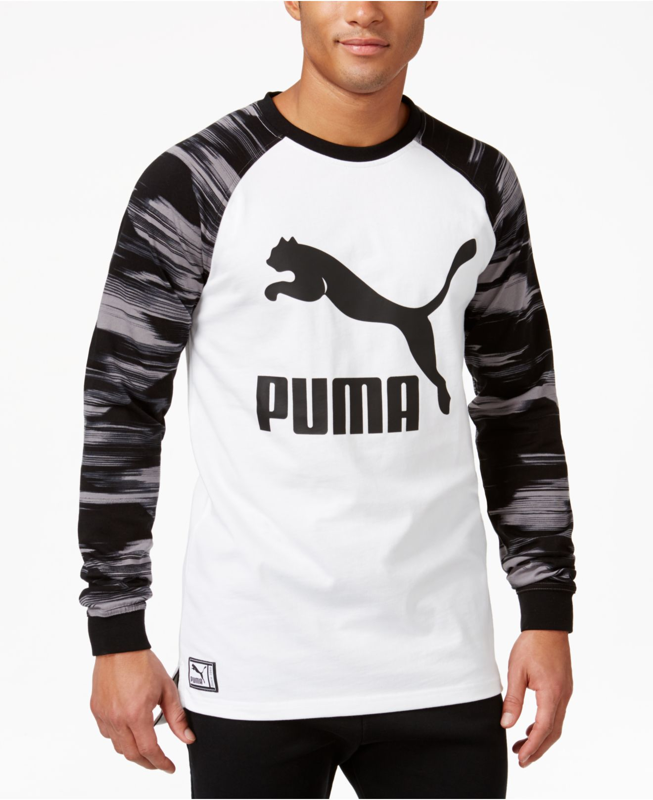 4b465301 White Men's Graphic Long-sleeve T-shirt