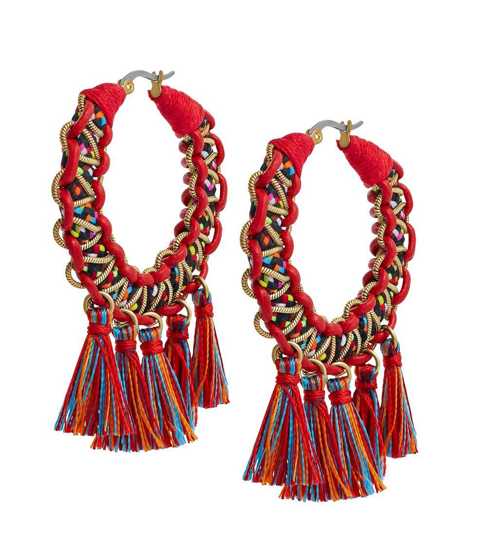 Macrame Hoop Earrings 89
