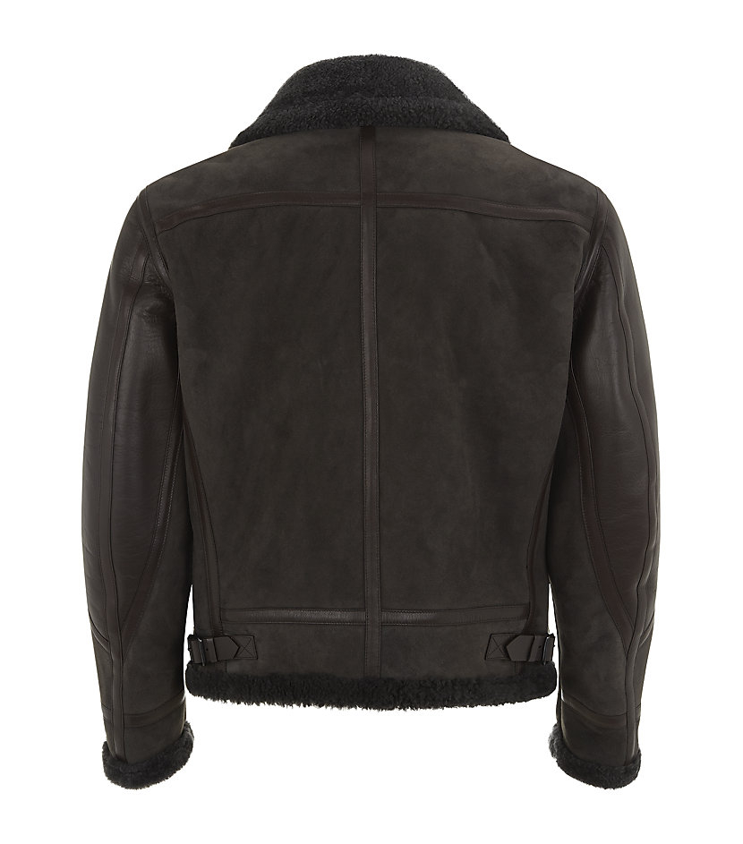 Burberry Tomkins Shearling Aviator Jacket in Grey for Men