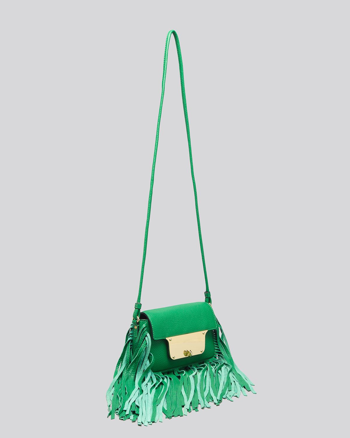 MILLY Crossbody - Isabella Pebble Fringe in Emerald (Green)