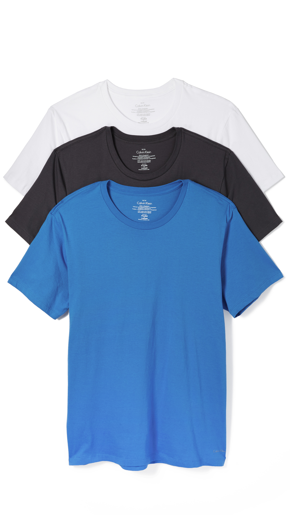 d579a3d0c426 Calvin Klein Cotton Classic 3 Pack Crew Neck Tee in Blue for Men - Lyst