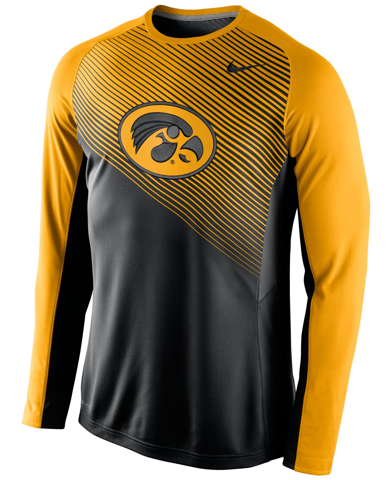 Nike mens long sleeve iowa hawkeyes fearless shootaround t for Old school nike shirts