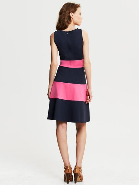 Banana Republic Rugby Stripe Ponte Fit And Flare Dress