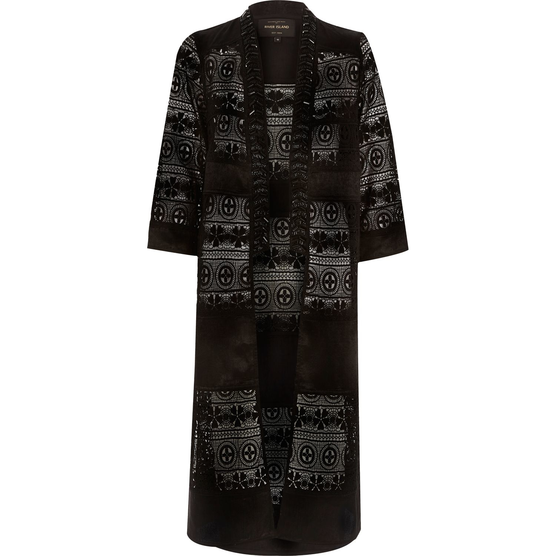 Womens Dark Grey short sleeve kimono River Island Outlet Really Buy Cheap Free Shipping Pre Order Cheap Price Discount Price J4dGStO3a