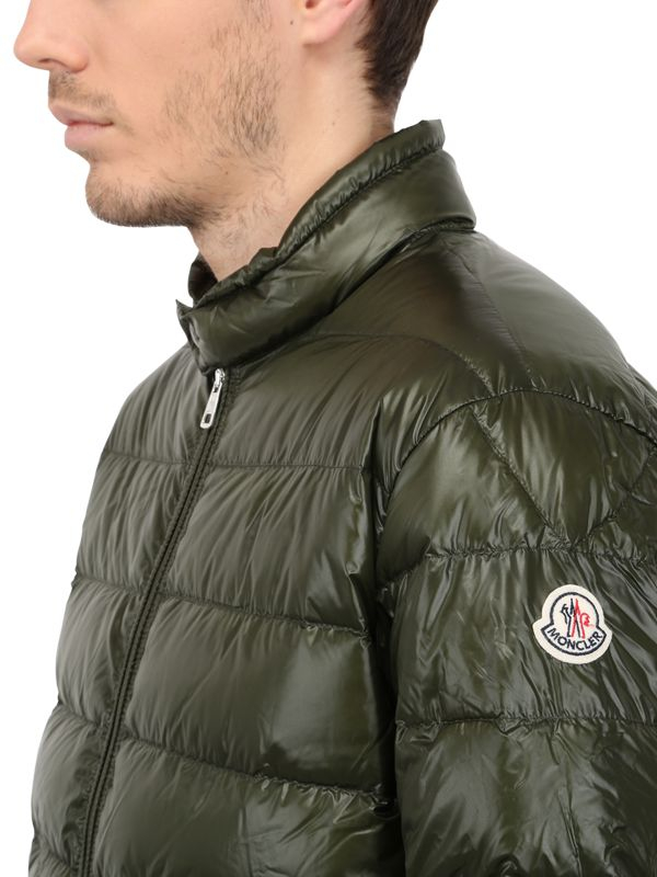 Moncler Acorus Nylon Light Weight Down Jacket in Military Green (Green) for Men