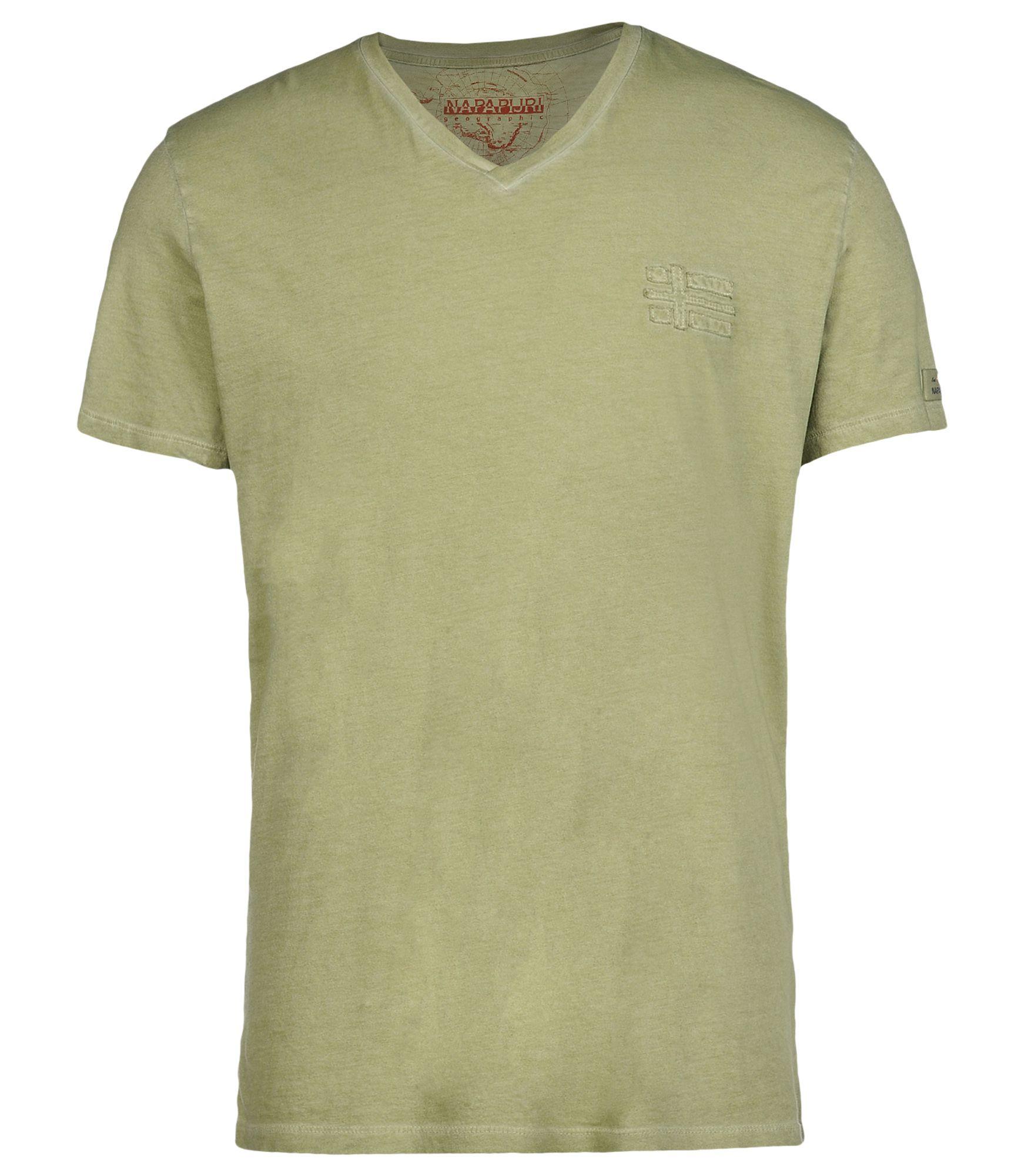 napapijri short sleeve t shirt in green for men lyst. Black Bedroom Furniture Sets. Home Design Ideas