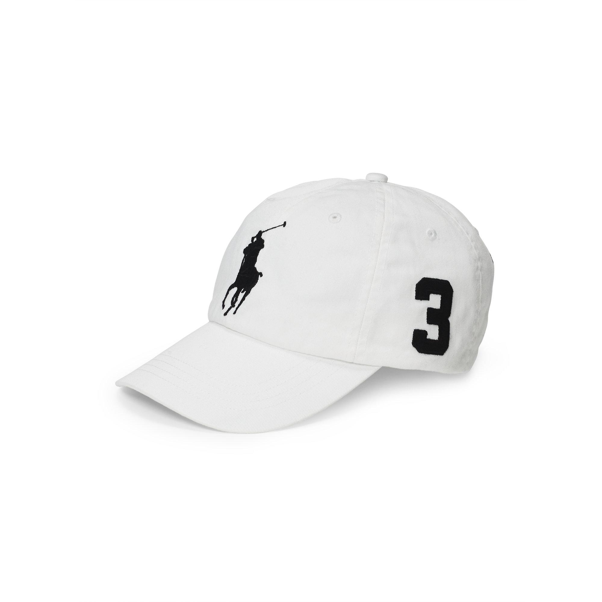For Lauren Baseball Polo Chino Ralph Cap White Men bfg76y