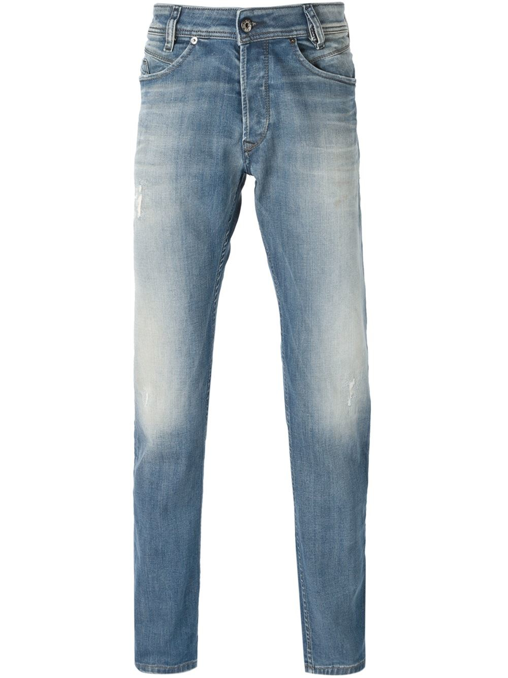 diesel 39 iakop 39 tapered jeans in blue for men lyst. Black Bedroom Furniture Sets. Home Design Ideas