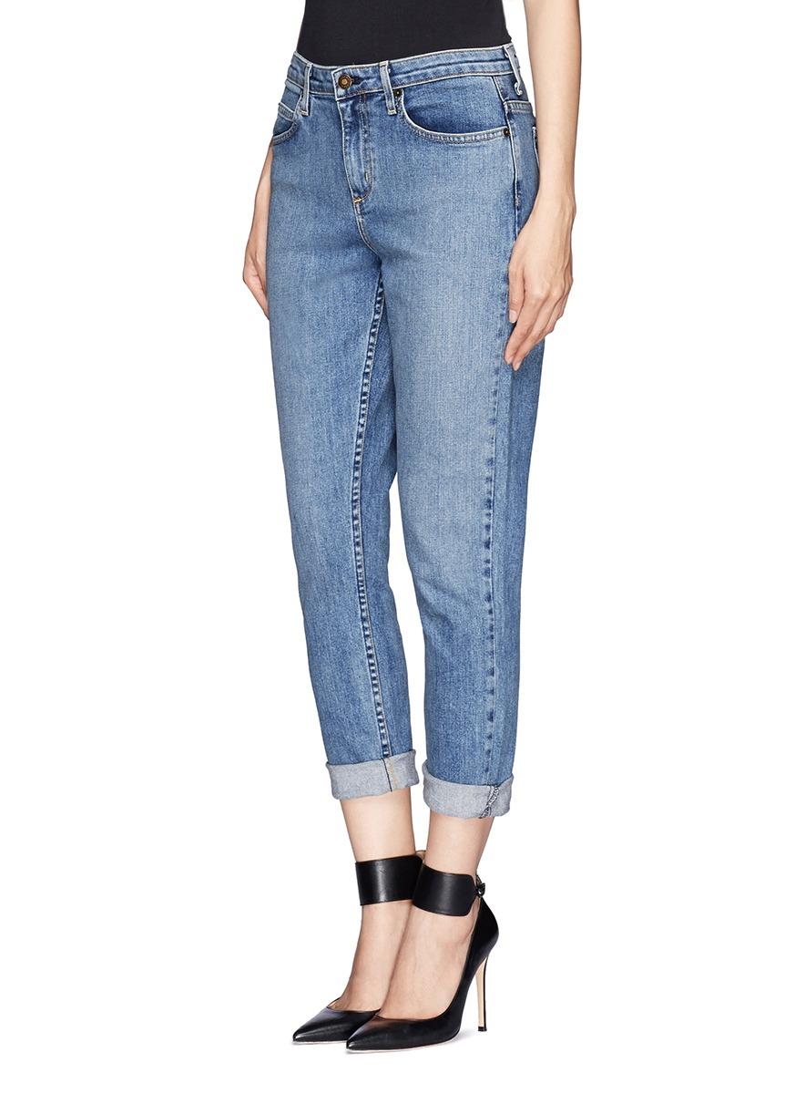 Theory Jordin Crop Boyfriend Jeans in Blue