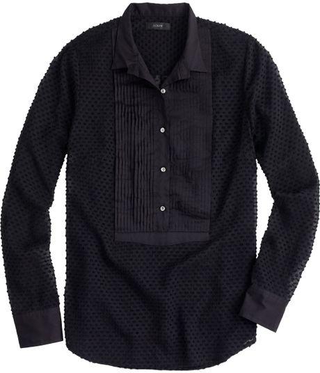Tall Swiss Dot Tuxedo Shirt In Black Lyst