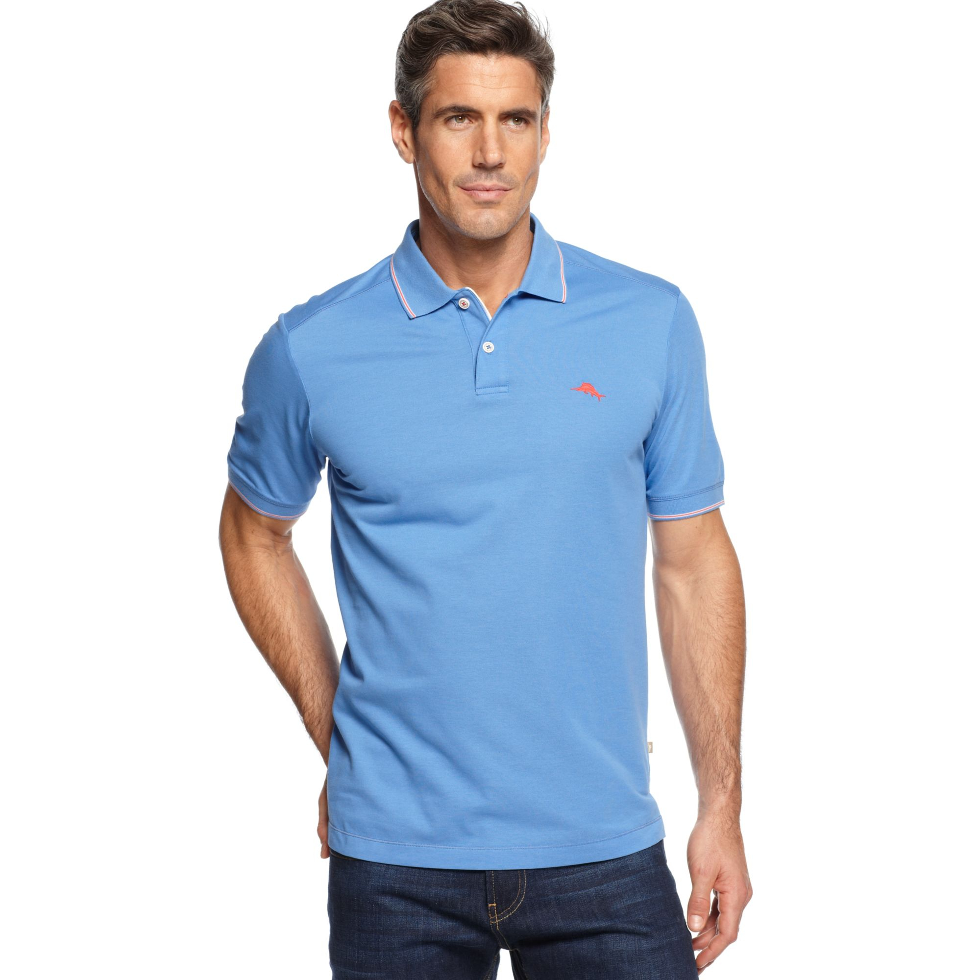 Tommy Bahama Island Lite Polo Shirt In Blue For Men