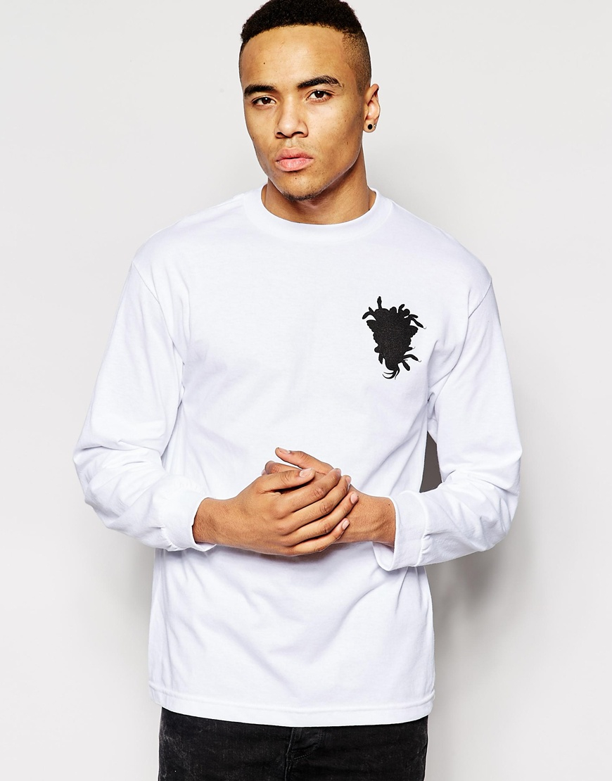 Lyst crooks and castles long sleeve t shirt with foul for Long sleeve t shirt printing