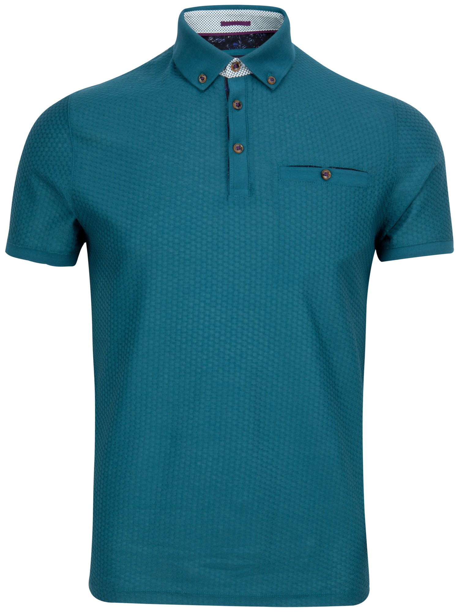7ccc83eea6fa62 Ted Baker Tipytoe Geo Textured Polo Shirt in Blue for Men - Lyst