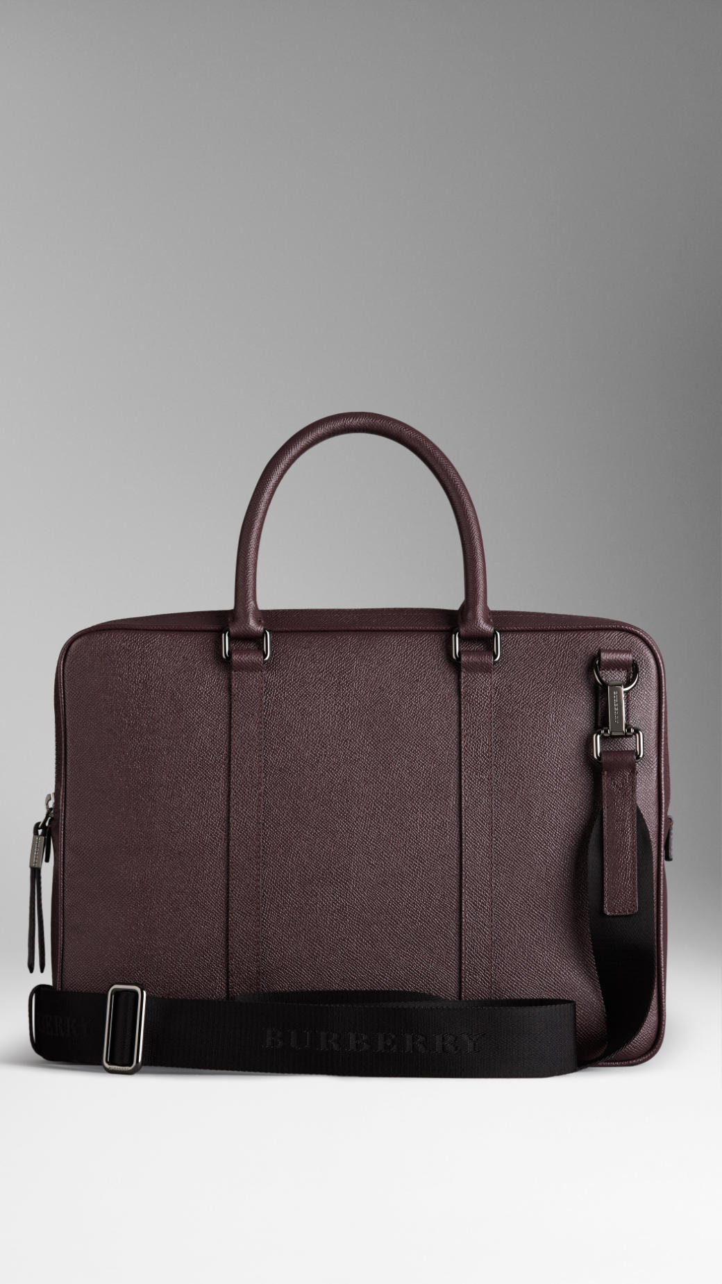 Lyst Burberry London Leather Crossbody Briefcase In