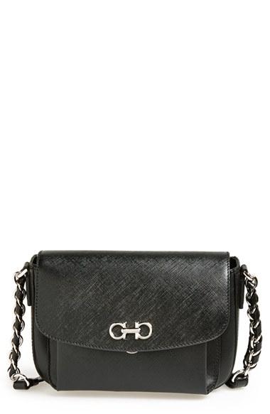 1d03ad6ce6 Lyst - Ferragamo  sandrine  Leather Shoulder Bag in Black