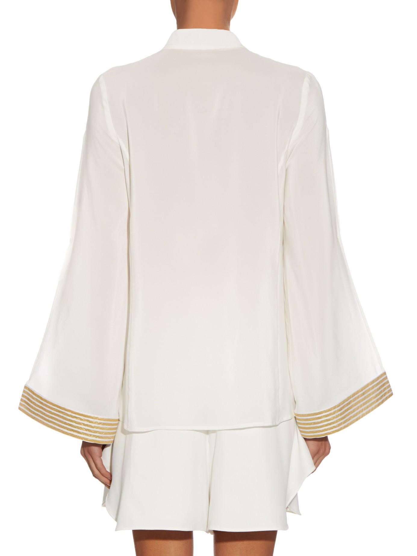 Silk Crepe De Chine Blouse Zeus + Dione Fashionable Cheap Newest Sale View Websites Online Clearance Pictures OuFWgN