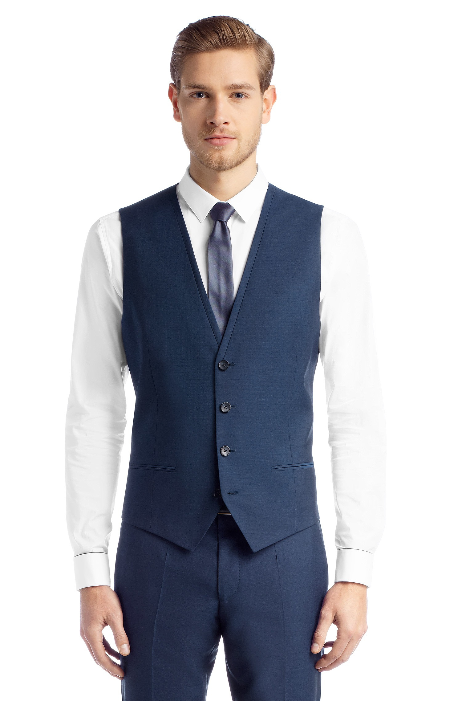 Hugo Slim Fit 3piece Suit Arantwonhixby in Blue for Men | Lyst