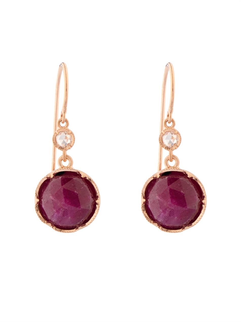 Irene Neuwirth Rubellite, tourmaline & rose-gold earrings