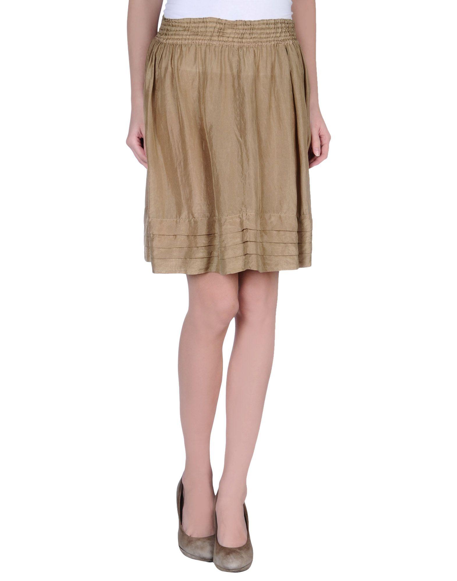 zucca knee length skirt in khaki lyst