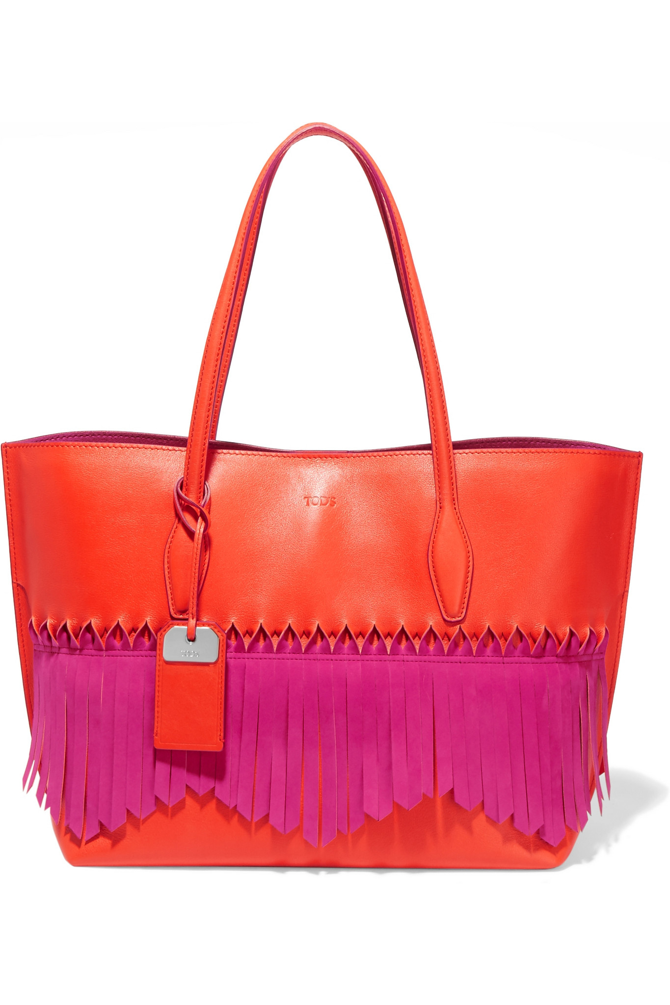 Lyst - Tod'S Joy Origami Fringed Leather Tote in Purple - photo#17